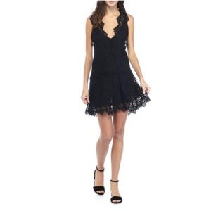 NWT Free People Heart in Two Lace Dress, Black XS